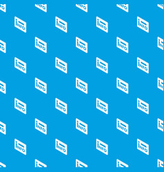 market info pattern seamless blue vector image