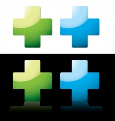 medical cross vector image