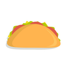 Mexican taco icon vector