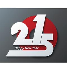 Modern creative greeting card design new year 2015 vector