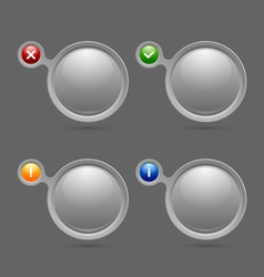 Notification bubbles vector image vector image
