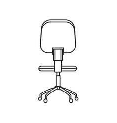 Office chair work style image outline vector