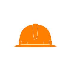 Orange working hard hat vector