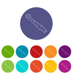 paper language icons set color vector image