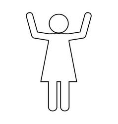 pictogram woman design vector image