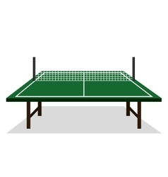 Ping pong table icon vector