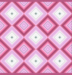 pink repeating diagonal square tile mosaic vector image
