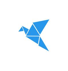 Poly bird logo design template vector