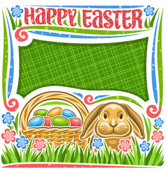 poster for easter holiday vector image