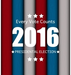 Presidential Election 2016 in USA Background Can vector
