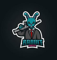 Rabbit gaming logo vector