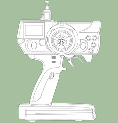 Radio remote control unit vector