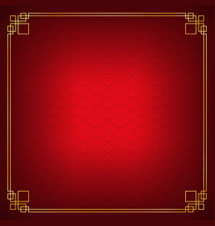 red shell overlap chinese abstract background vector image