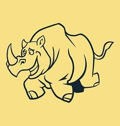 Rhino Run Line Art vector image