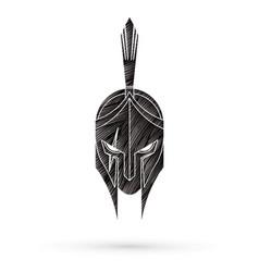 Roman or greek helmet spartan helmet vector