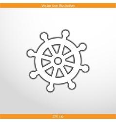 rudder web flat icon vector image