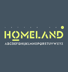 sans serif urban stencil letter set vector image