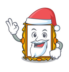santa picture frame mascot cartoon vector image