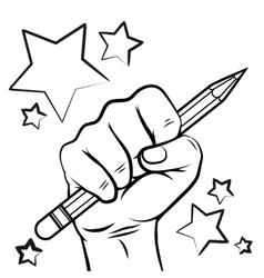 school sketch with hand pencil vector image
