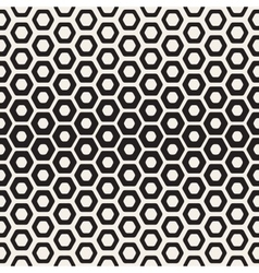 Seamless White And Black Hexagon Halftone vector