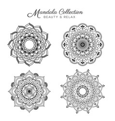 set mandala decorative vector image