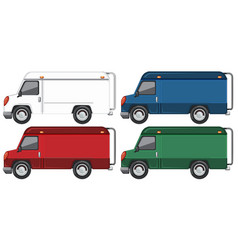 Set truck with different colour vector