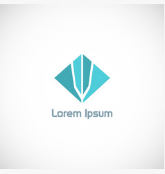 shape square company logo vector image