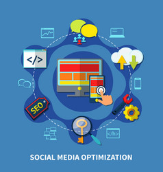 Social media round composition vector