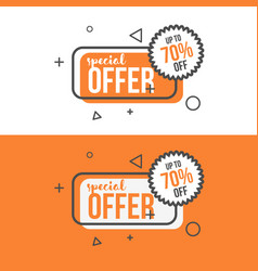 Special offer banner in flat style vector