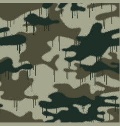 spray painted camouflage wallpaper vector image