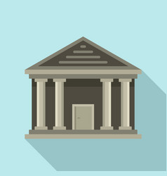 Stone courthouse icon flat style vector