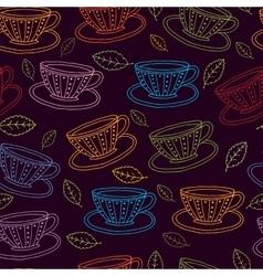 teacups vector image