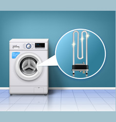 washing machine protection composition vector image