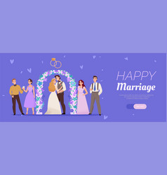 wedding marriage ceremony banner vector image