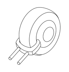 Wheel clamp icon in outline style isolated on vector