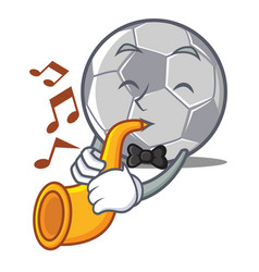 with trumpet football character cartoon style vector image