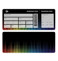 Boarding pass vector image vector image