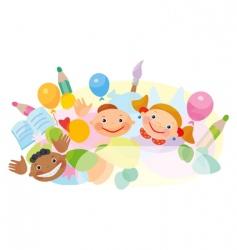 cartoon ethnic kids vector image vector image