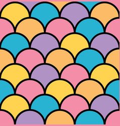 colorful pastel scale seamless pattern black vector image