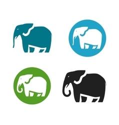 Elephant logo Animals icon or symbol vector image