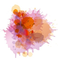 Grunge colorful paint splashes vector image vector image