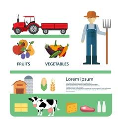 Organic Clean Foods Good Health Template Design vector image