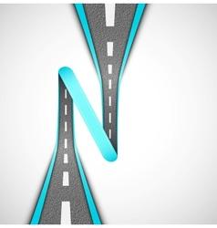 Road loop vector image