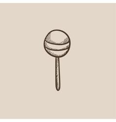 Round lollipop sketch icon vector image