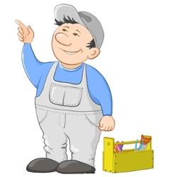 worker cartoon vector image vector image