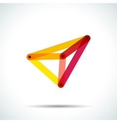 Abstract pyramid logo with intersecting vector image vector image