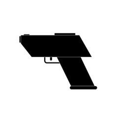 Black icon on white background electric gun vector