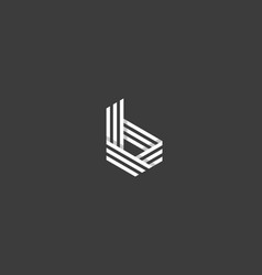 line letter b logotype abstract geometric logo vector image vector image