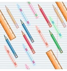 Seamless school background vector image vector image