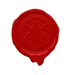 wax seal design vector image vector image